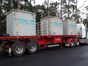 11700 litre medium tanks for JCU