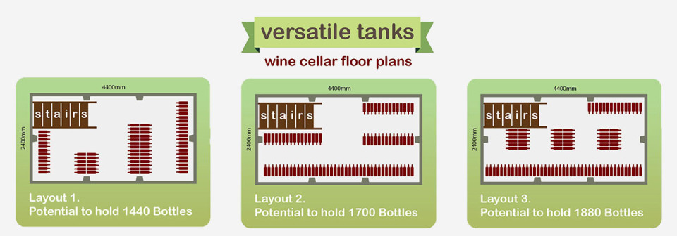 Wine Cellar Design Floor Plans