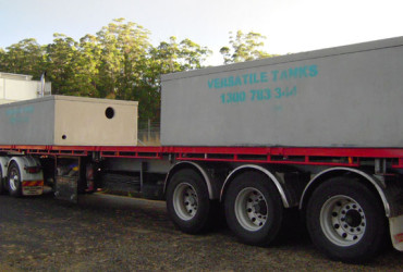 Versatile Tanks watertight concrete tank delivery
