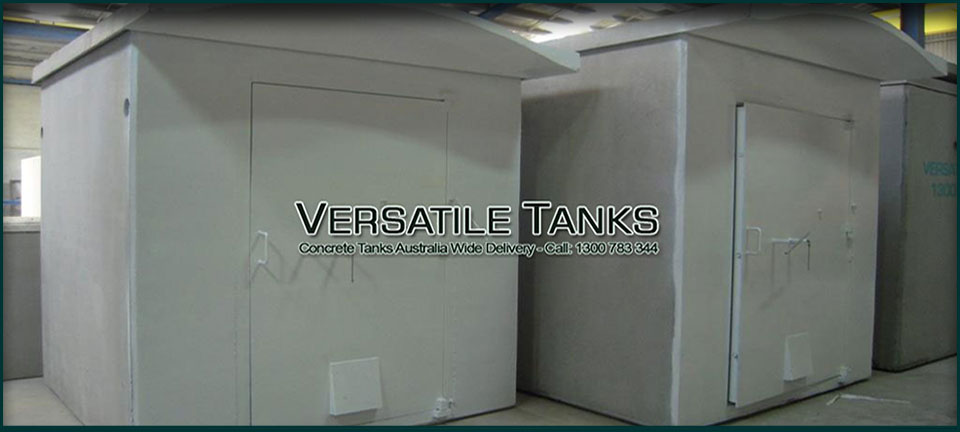 Concrete tanks used for explosive storage