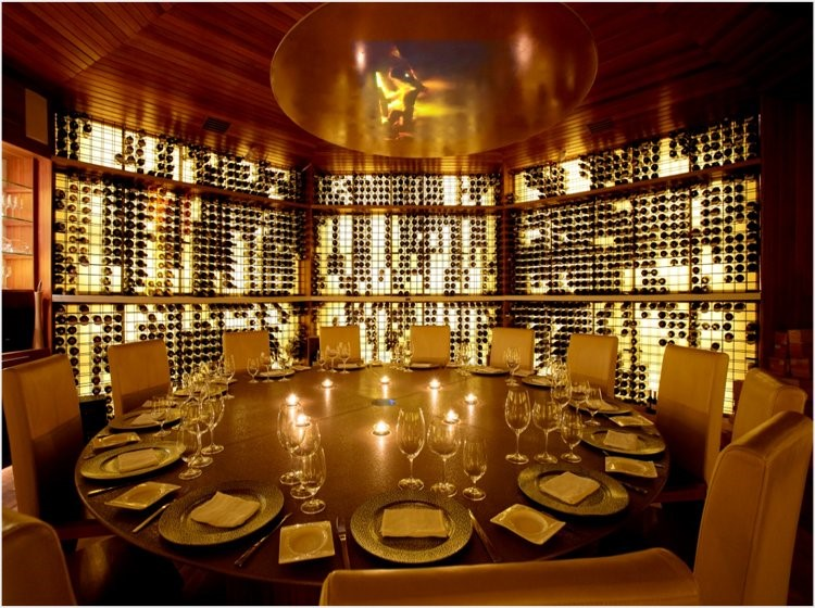 Private resort wine cellar design
