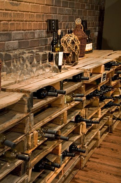 Creative wooden wine cellar design