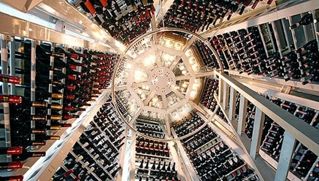 Restaurant inspired wine cellar