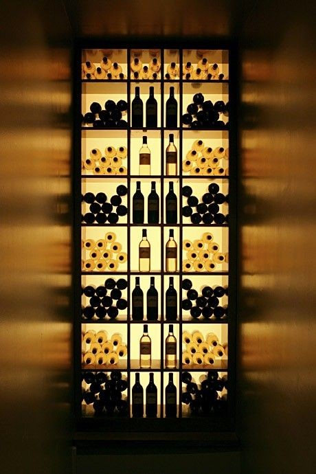 Backlit wine cellar design
