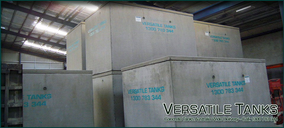Concrete tanks being made at our manufacturing plant
