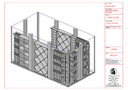 3D drawing of a wine cellar design from Versatile Tanks